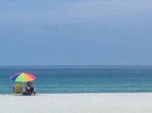Blick auf den Strand