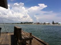 Blick vom Anna Maria Pier zurück auf die Insel