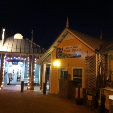 """Cast'n'Cage"" auf dem Bradenton City Pier"