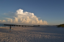 Strand im Morgengrauen