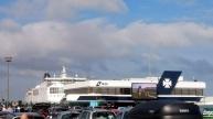 DFDS Autoreihen und das Terminal mit der Fähre
