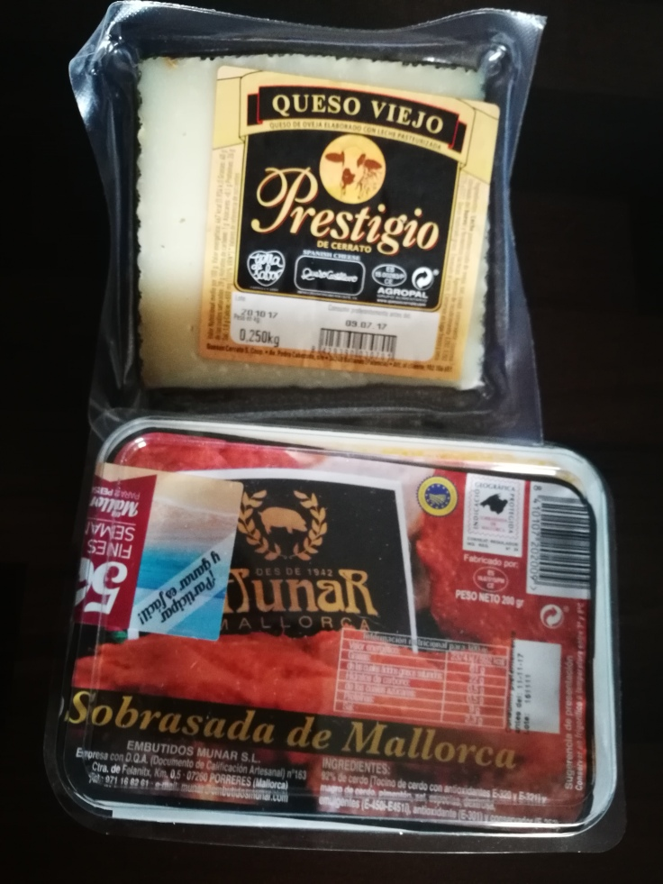 Käse mit Sobrasada